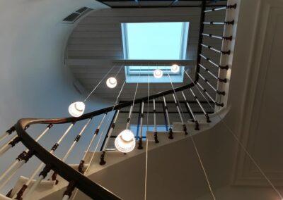 Installation lumineuse à hauteur